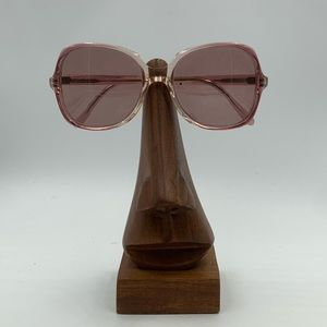 Vintage Angelica Pink Oval Butterfly Sunglasses